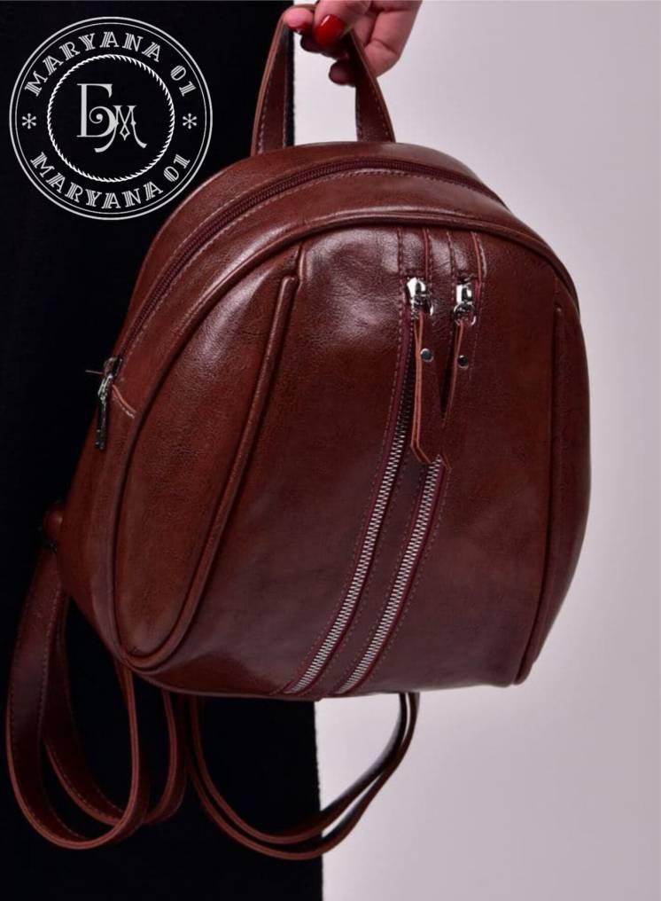 Модный женский рюкзак коричневый / brown