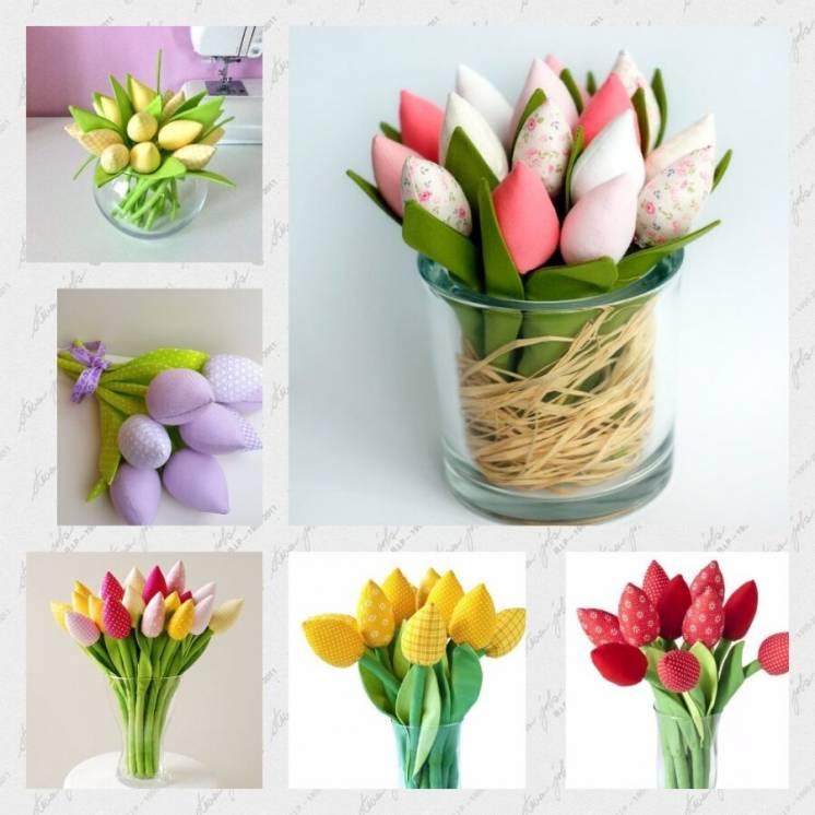 Тюльпаны Тканевые Пасха