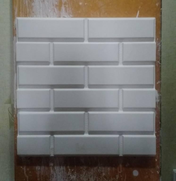 Гипсовая плитка 3d панели, для декора и интерьера,возможна покраска...