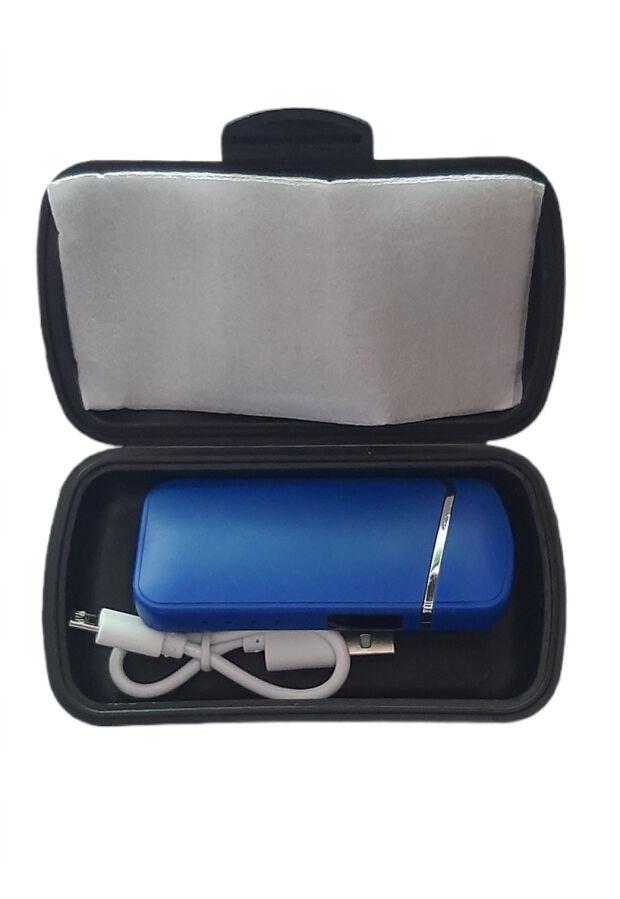 Зажигалка Usb плазменная 2 дуги LED сенсор кнопка боковая