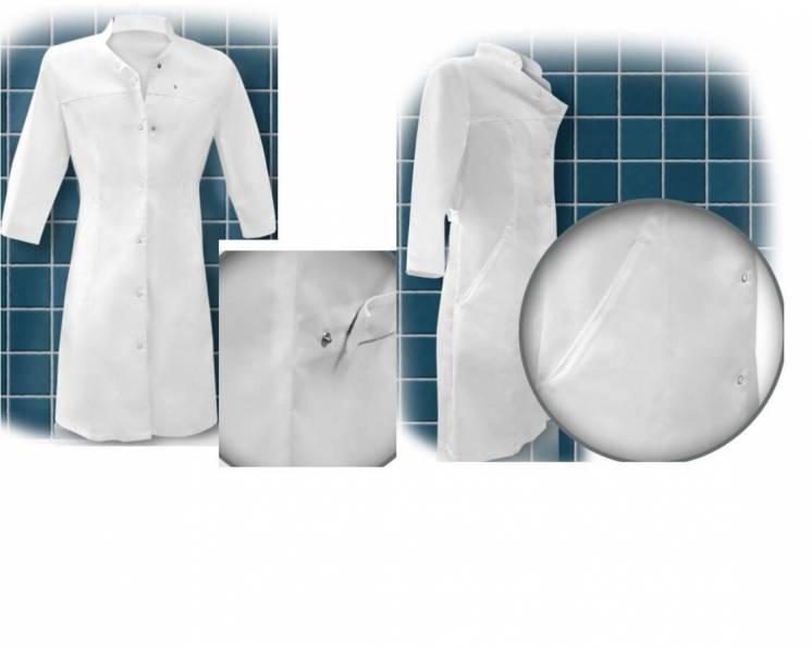 Рабочий женский халат на кнопках Асти