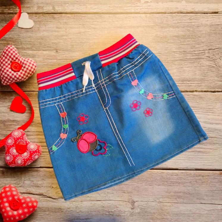 Юбка джинсовая на 5-6 лет