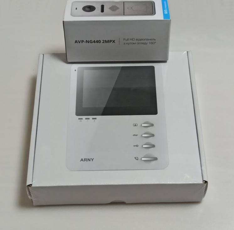 Видеодомофон ARNY AVD-410 и видеопанель 2Mpx FullHD с видеоглазком ант