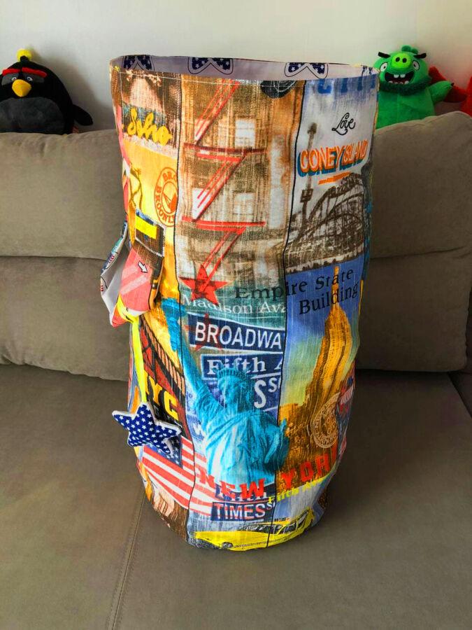 Эко-Корзина для игрушек ручной работы Нью-Йорк
