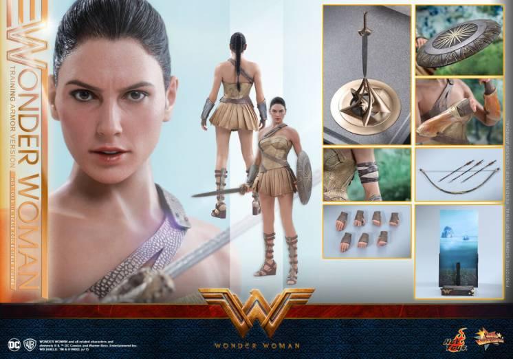 Фигурка 1/6 hot toys mms424 WONDER WOMAN (TRAINING ARMOR VERSION)