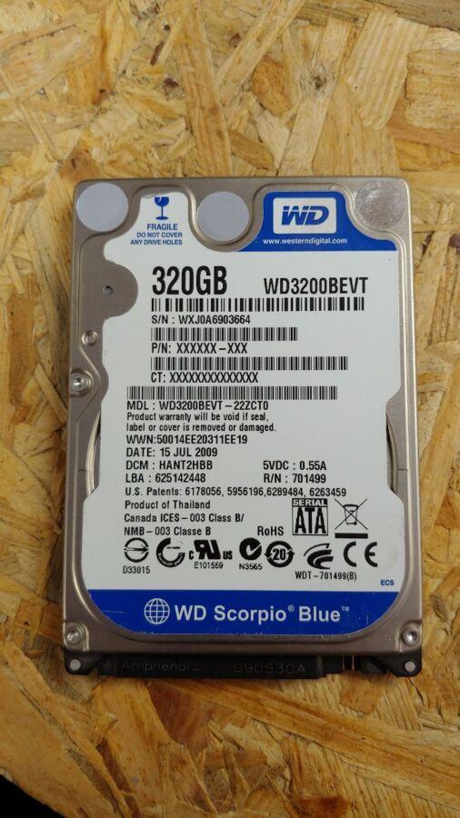 "Жесткий диск 2.5"" Western Digital Blue, 320GB"
