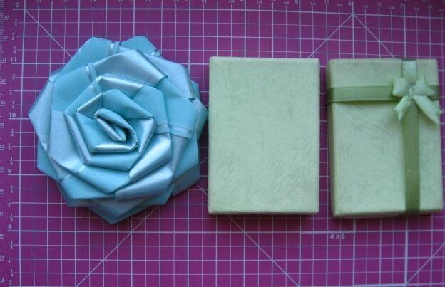 подарочная роза бант для упаковки подарка мятная, торг