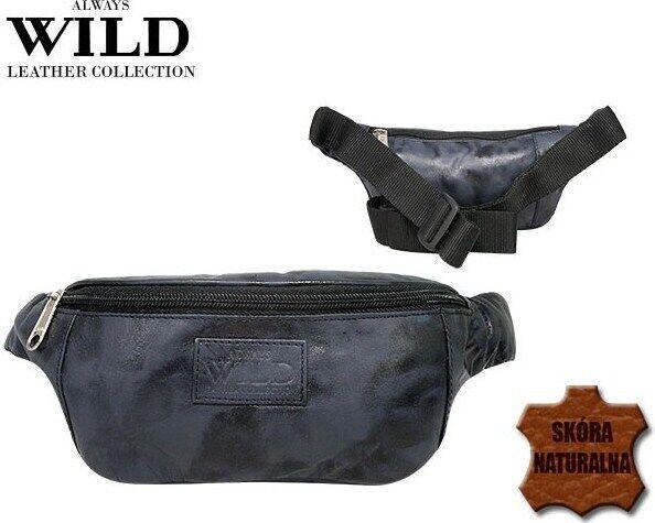 Поясная сумка из кожи Always Wild 907-TT navy