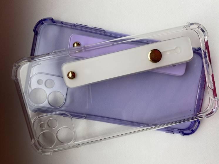 Прозрачный силиконовый чехол на айфон 11, с подставкой