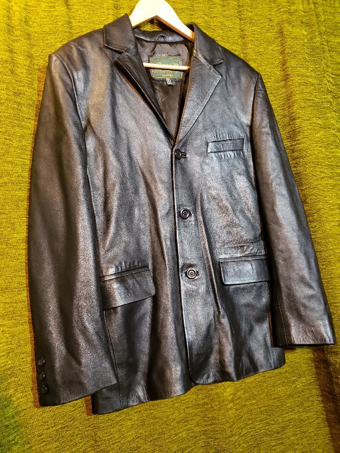 Пиджак куртка мужской кожаный (Италия)