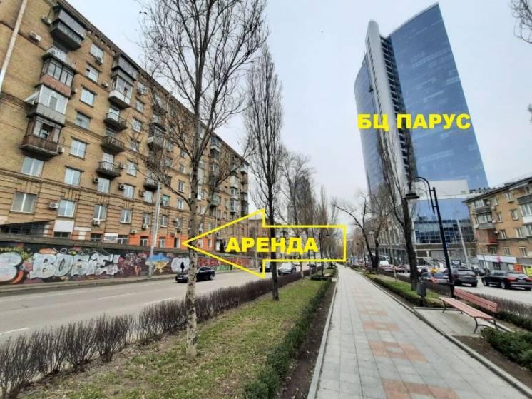 Фасад Б.Леси Украинки/ТРЦ Гулливер/БЦ Парус