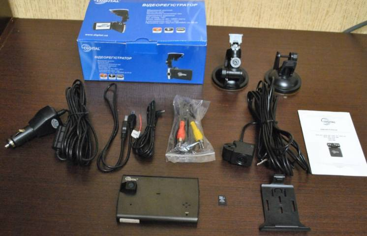 Автомобильный видеорегистратор Digital DCR-340 с выносной камерой