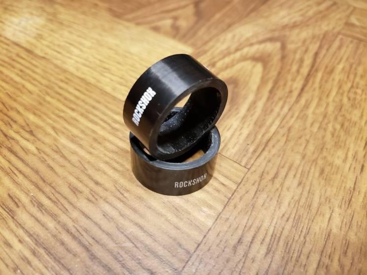 Карбонові спейсери Rock Shox 2 шт по 1,5 см