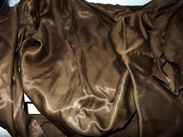 Ткань шелк как атлас золотисто--светло-коричневый For Hand Made, рукод