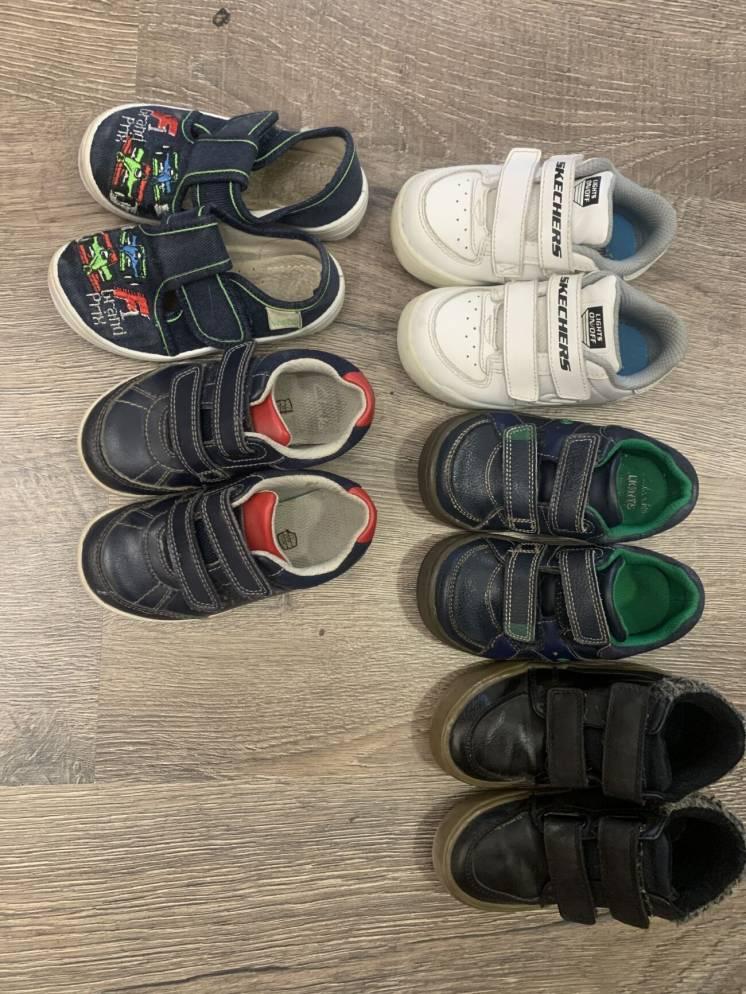 Взуття для хлопчика next, Clark's, scetchers розмір 23-24-25