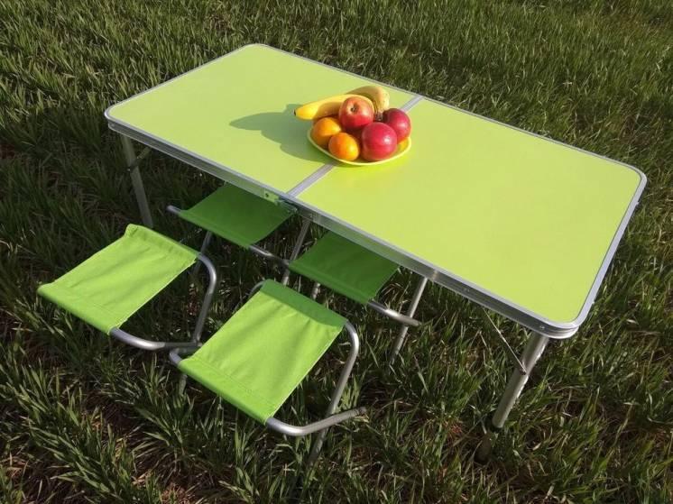 Стол и стулья для пикника Folding Table Зеленый