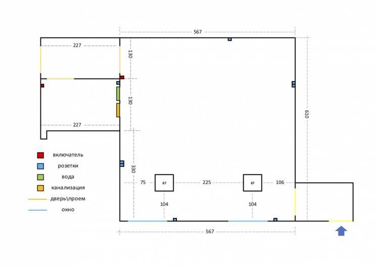 Аренда 40 m2 нежил.помещ. бул.Роллана 13, собст, отдельный вход