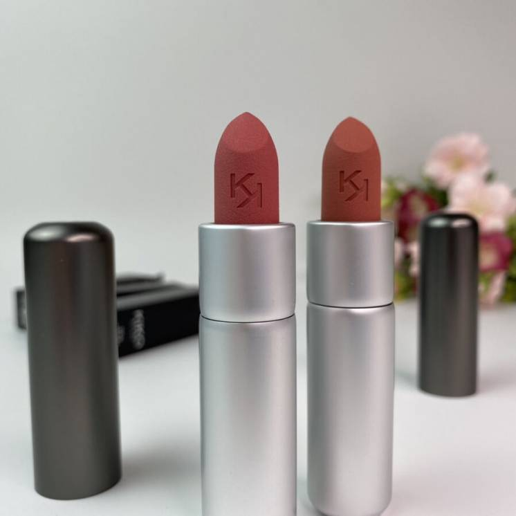 Матовая помада Kiko Milano Powder Power Lipstick. Пудровая помада Кико