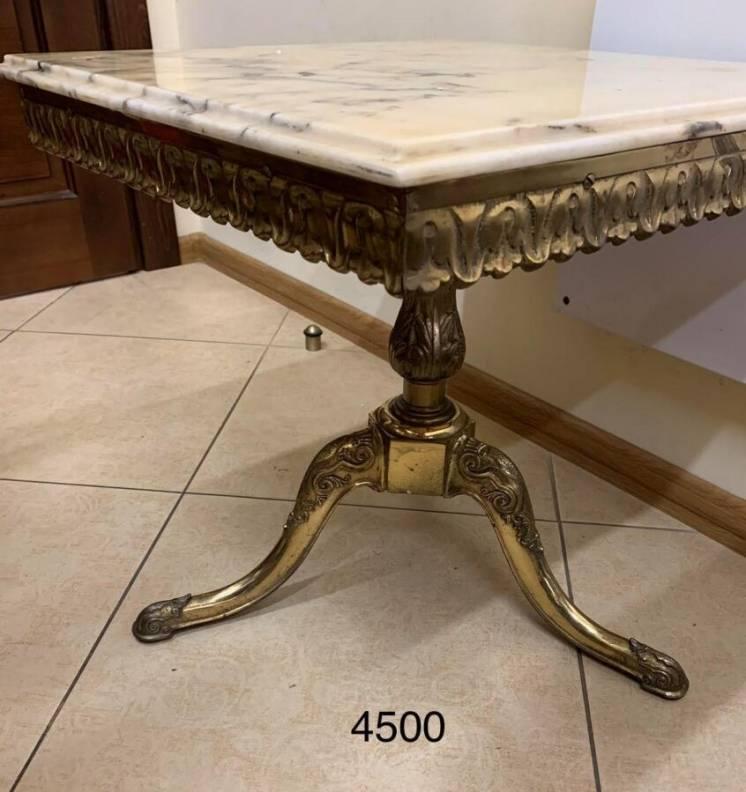 Столик подставка бронза мрамор из Европы