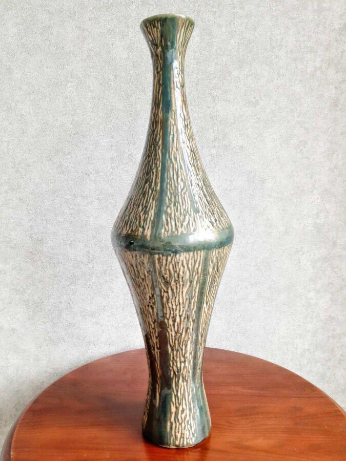 Ваза Напольная ЛКСФ Львов майолика, обливная керамика 61 см