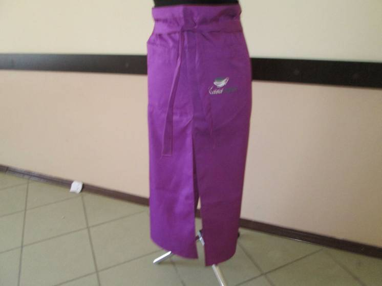 Фартук для сферы обслуживания, фиолетовый