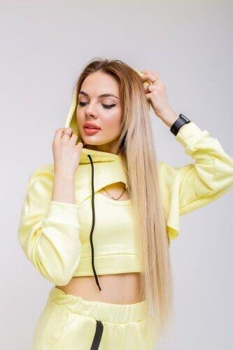 Худи+топ женский лимонный 'Loop'