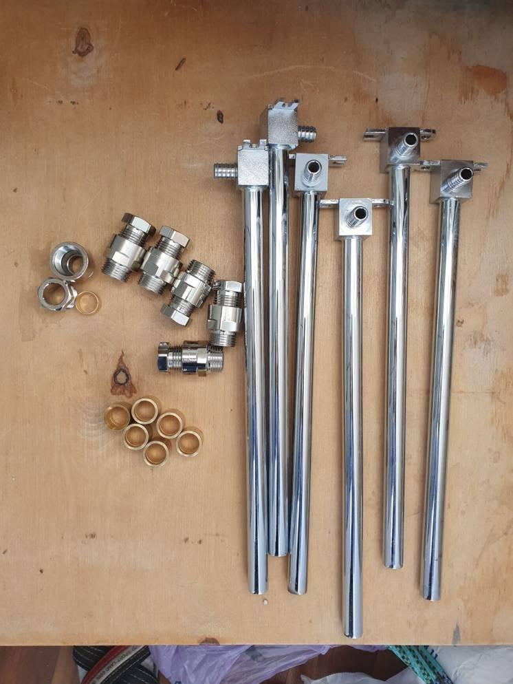 Отвод KAN-Therm, Трубки для нижнего подключения радиаторов