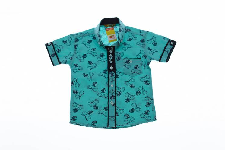 Рубашка с листочками на мальчика
