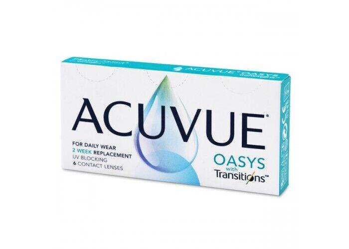 Контактні лінзи Acuvue Oasys with Transitions