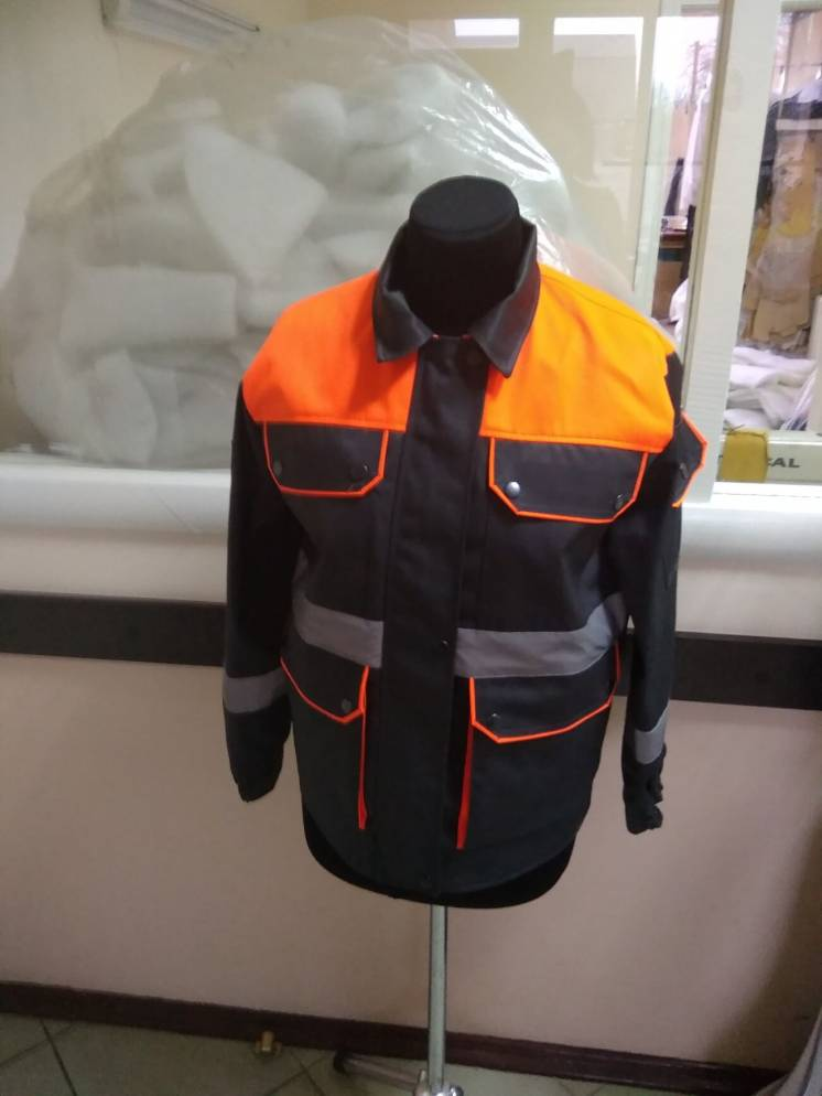 Рабочая куртка, демисезонная, оранжевая