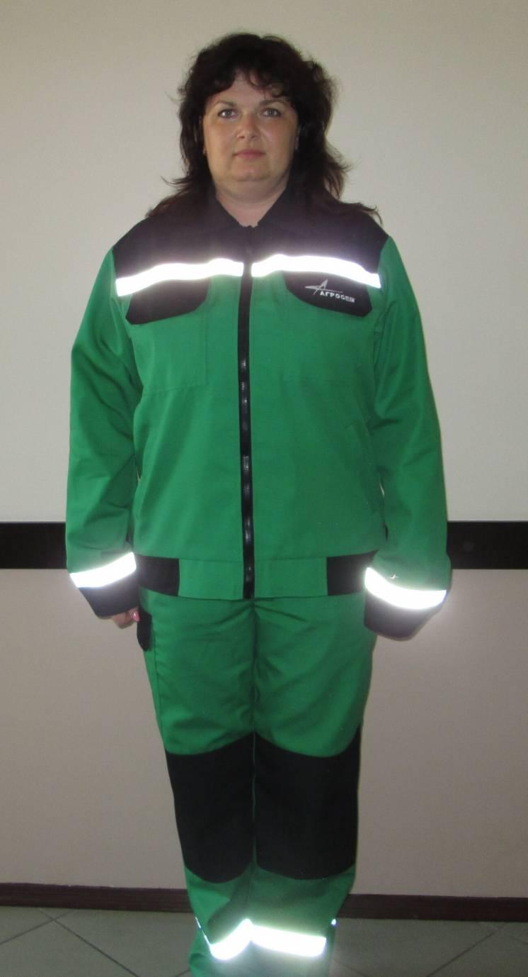 Рабочий костюм, демисезонный, зеленый