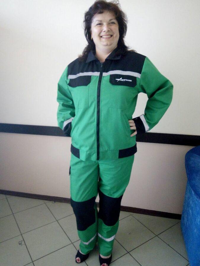 Рабочий костюм, зеленый, демисезонный