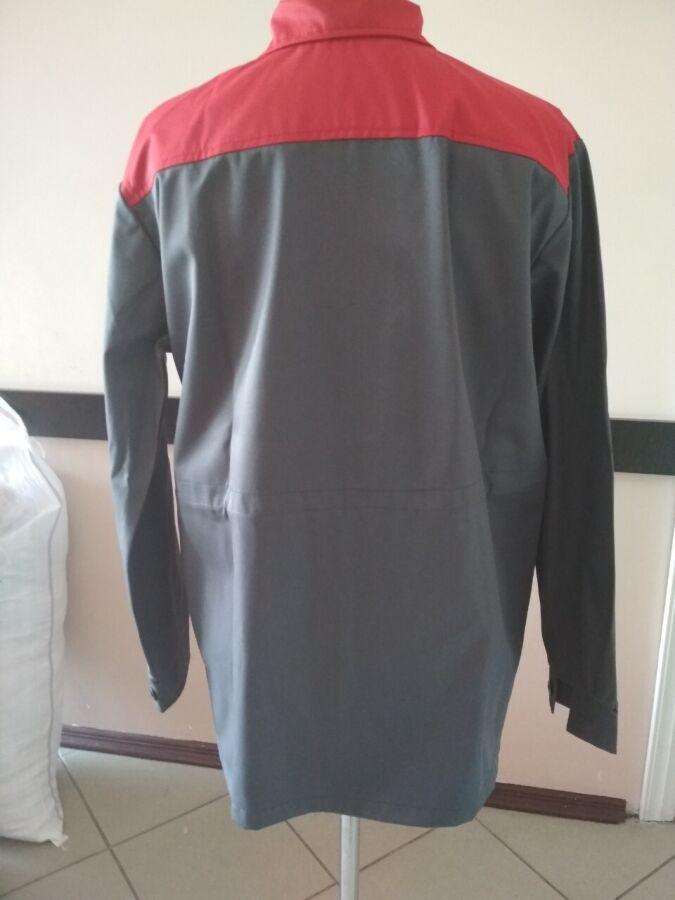 Рабочая демисезонная куртка, серо-красная