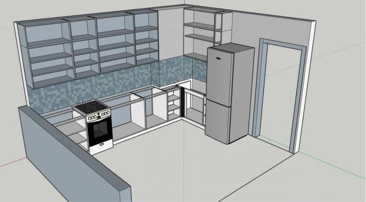 Деталировка, присадка, 3D проект вашей кухни. Вияр