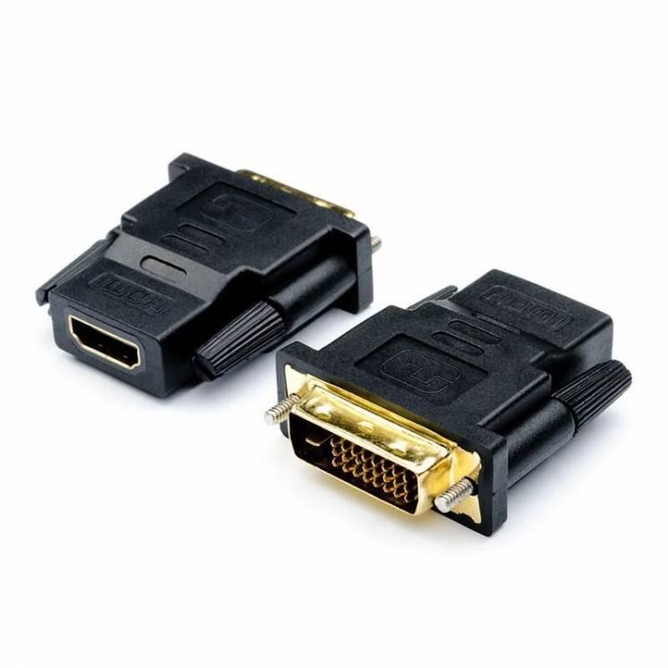 Перехідник Atcom DVI 24pin (M) - HDMI (F), чорний
