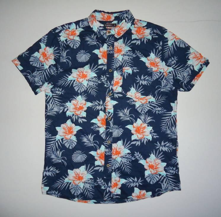рубашка  Гавайская Peacocks Regular Fit Cotton размер (M)