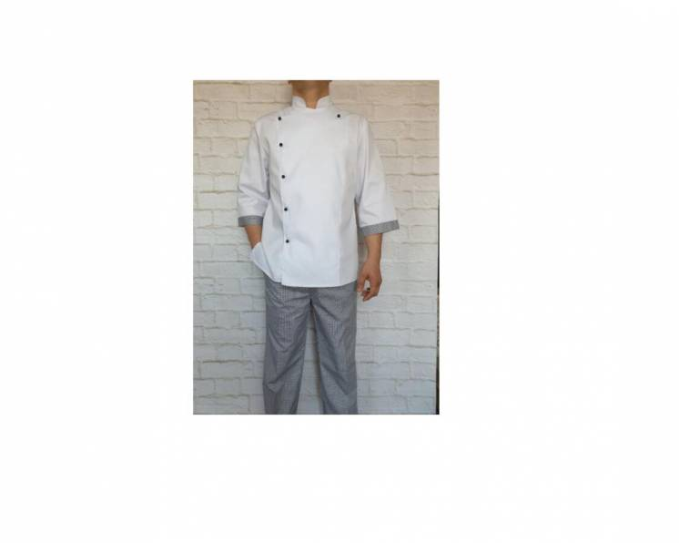 Китель с брюками для повара
