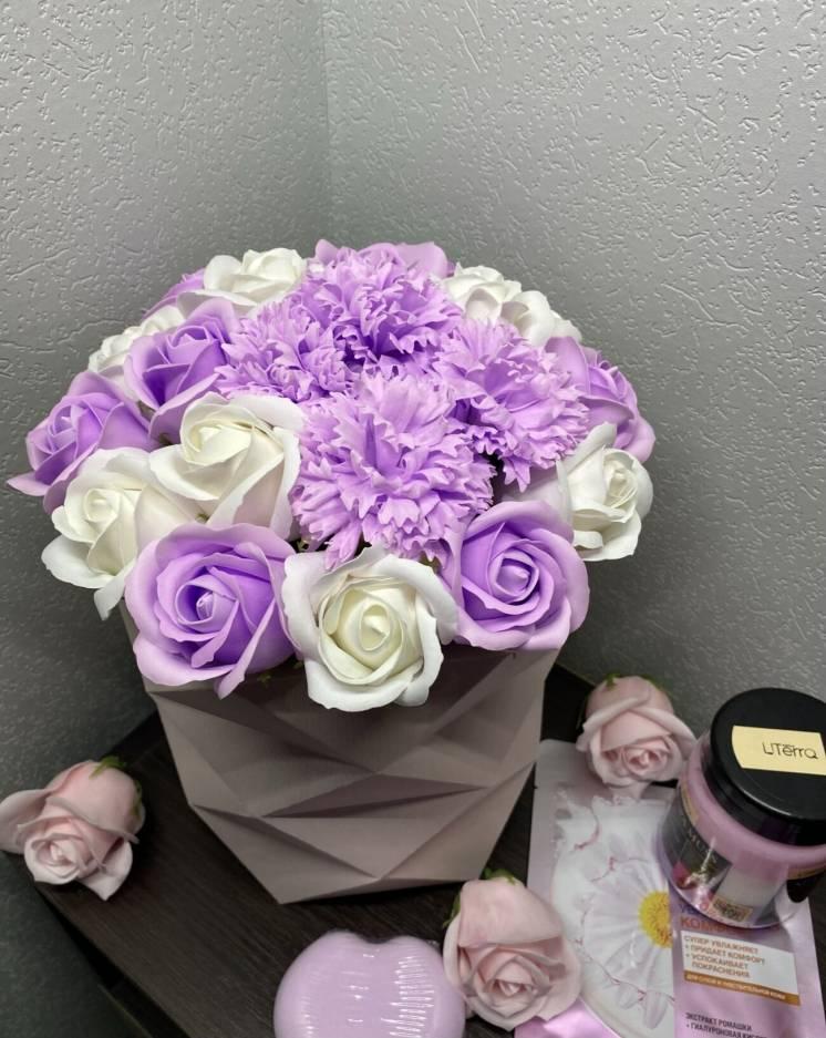 Букеты из мыла мыльные розы цветы из мыла