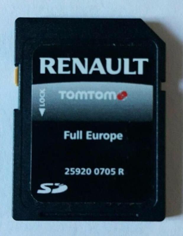 Карти навігації GPS Renault рено TomTom
