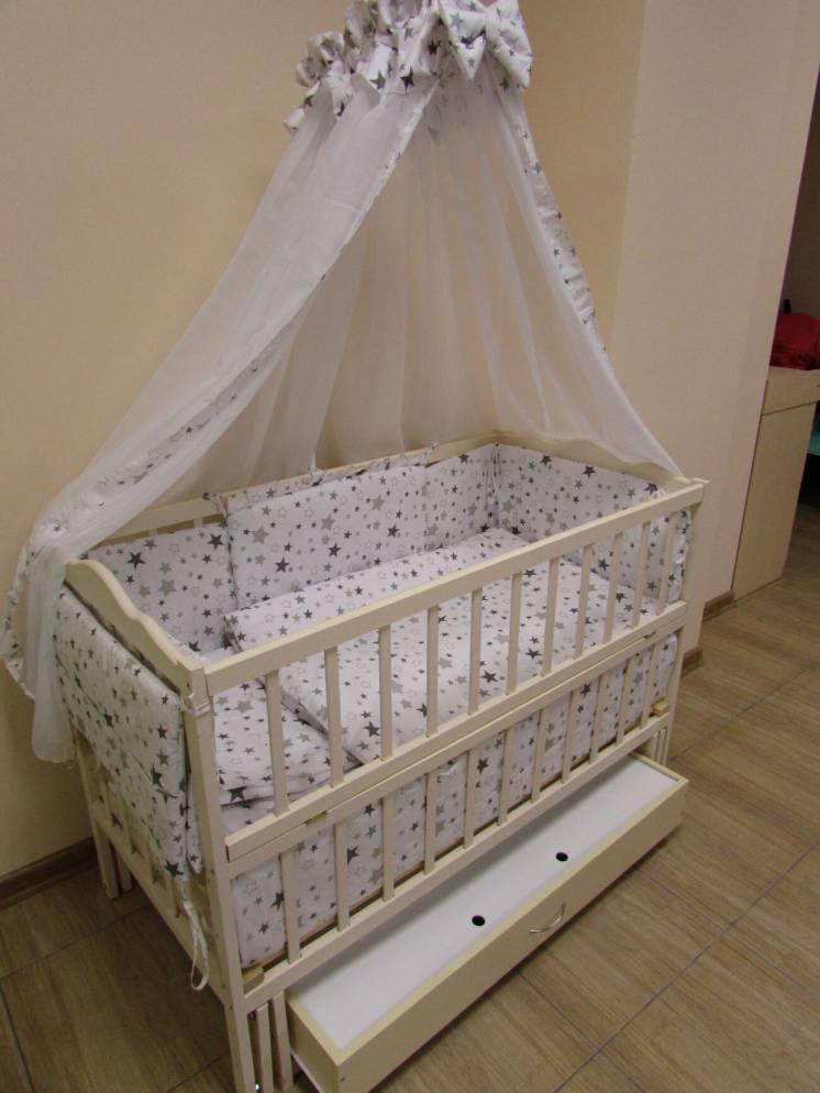 Акция! Лучшая кроватка маятник Малыш. в подарок матрас кокос, постель