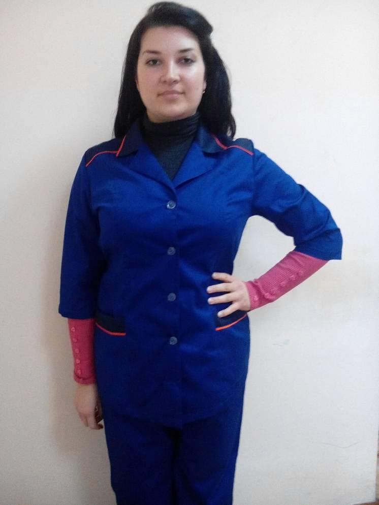 Костюм горничной синий