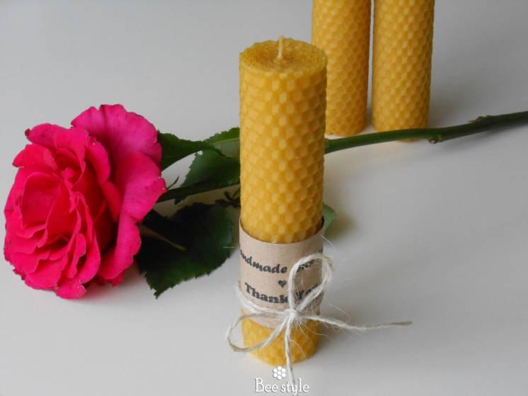 Восковая свечечка 13см*3см для уюта в доме
