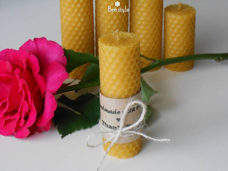 Восковая свечечка 10см*3см для уюта в доме
