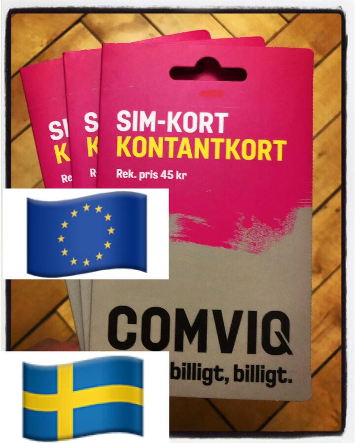 Сим/пополнения Comviq Европа Швеция роуминг/прием смс/регистрация
