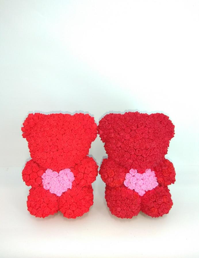 Мишка из роз  медведь из роз  цветочный мишка  игрушка из цветов