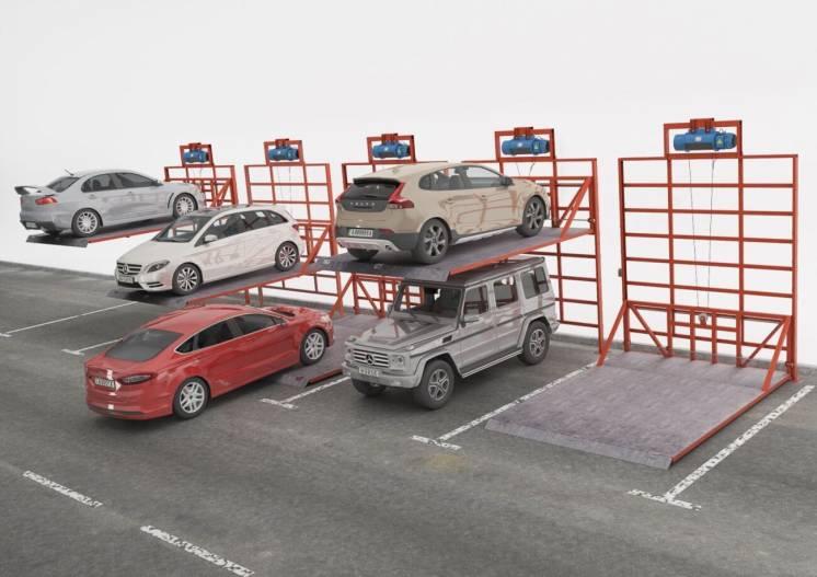 Мобильные двухъярусные парковки