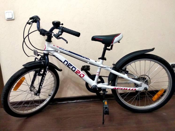 """Детский велосипед Apollo Neo 20"""" 6s на 5-10 лет, в отличном состоянии"""