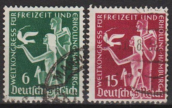 1936 - Рейх - Конгресс в Гамбурге Mi.622-23 _2,0 EU