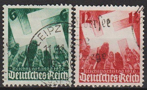 1936 - Рейх - Партсъезд в Нюрнберге Mi.632-33