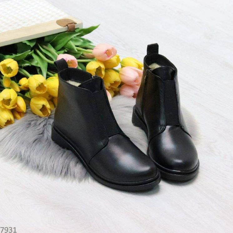 Ботинки женские кожа зимние